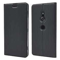 Custodia Portafoglio In Pelle Cover con Supporto L03 per Sony Xperia XZ2 Nero