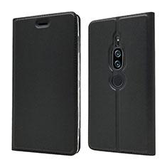 Custodia Portafoglio In Pelle Cover con Supporto L03 per Sony Xperia XZ2 Premium Nero