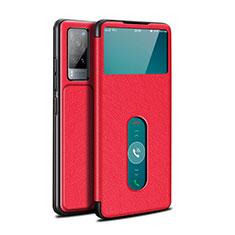 Custodia Portafoglio In Pelle Cover con Supporto L03 per Vivo X60 5G Rosso