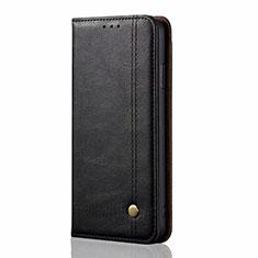 Custodia Portafoglio In Pelle Cover con Supporto L03 per Xiaomi Mi Note 10 Lite Nero