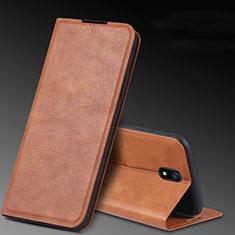 Custodia Portafoglio In Pelle Cover con Supporto L03 per Xiaomi Redmi 8A Marrone