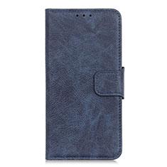 Custodia Portafoglio In Pelle Cover con Supporto L04 per Alcatel 3X Blu