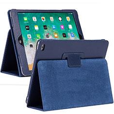 Custodia Portafoglio In Pelle Cover con Supporto L04 per Apple iPad 10.2 (2020) Blu