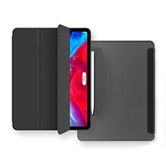 Custodia Portafoglio In Pelle Cover con Supporto L04 per Apple iPad Air 4 10.9 (2020) Nero