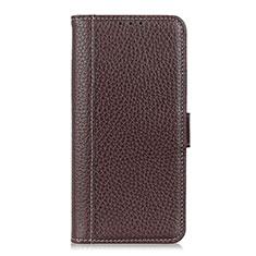 Custodia Portafoglio In Pelle Cover con Supporto L04 per Apple iPhone 12 Max Marrone