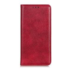 Custodia Portafoglio In Pelle Cover con Supporto L04 per Google Pixel 4 Rosso