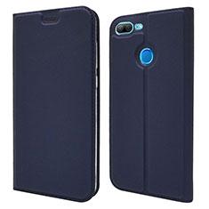 Custodia Portafoglio In Pelle Cover con Supporto L04 per Huawei Honor 9 Lite Blu