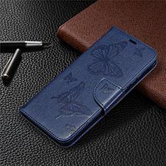 Custodia Portafoglio In Pelle Cover con Supporto L04 per Huawei Honor 9A Blu