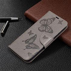 Custodia Portafoglio In Pelle Cover con Supporto L04 per Huawei Honor 9A Grigio