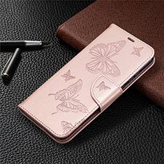 Custodia Portafoglio In Pelle Cover con Supporto L04 per Huawei Honor 9A Oro Rosa