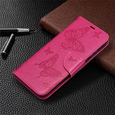 Custodia Portafoglio In Pelle Cover con Supporto L04 per Huawei Honor 9A Rosa Caldo