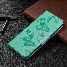 Custodia Portafoglio In Pelle Cover con Supporto L04 per Huawei Honor 9A Verde
