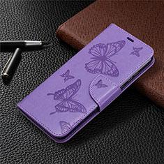 Custodia Portafoglio In Pelle Cover con Supporto L04 per Huawei Honor 9A Viola