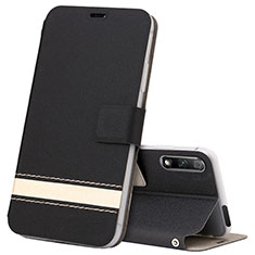 Custodia Portafoglio In Pelle Cover con Supporto L04 per Huawei Honor 9X Nero