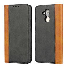 Custodia Portafoglio In Pelle Cover con Supporto L04 per Huawei Mate 20 Lite Nero