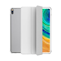 Custodia Portafoglio In Pelle Cover con Supporto L04 per Huawei MatePad Bianco
