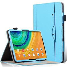 Custodia Portafoglio In Pelle Cover con Supporto L04 per Huawei MatePad Pro Cielo Blu