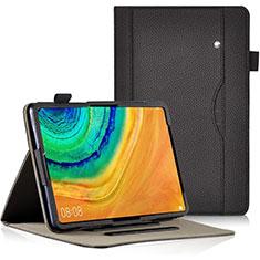 Custodia Portafoglio In Pelle Cover con Supporto L04 per Huawei MatePad Pro Nero