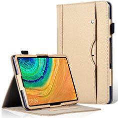 Custodia Portafoglio In Pelle Cover con Supporto L04 per Huawei MatePad Pro Oro