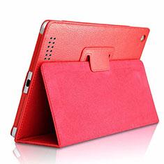 Custodia Portafoglio In Pelle Cover con Supporto L04 per Huawei MediaPad M6 8.4 Rosso