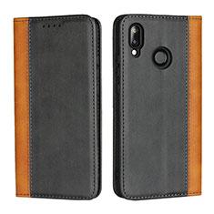 Custodia Portafoglio In Pelle Cover con Supporto L04 per Huawei Nova 3e Nero