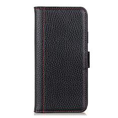 Custodia Portafoglio In Pelle Cover con Supporto L04 per Huawei Y5p Nero