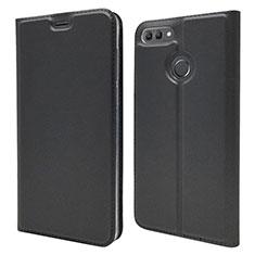 Custodia Portafoglio In Pelle Cover con Supporto L04 per Huawei Y9 (2018) Nero