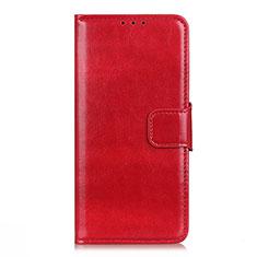 Custodia Portafoglio In Pelle Cover con Supporto L04 per LG Q52 Rosso