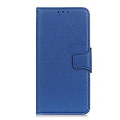 Custodia Portafoglio In Pelle Cover con Supporto L04 per LG Velvet 5G Blu