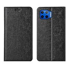 Custodia Portafoglio In Pelle Cover con Supporto L04 per Motorola Moto G 5G Plus Nero