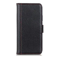 Custodia Portafoglio In Pelle Cover con Supporto L04 per Motorola Moto One Fusion Nero