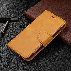 Custodia Portafoglio In Pelle Cover con Supporto L04 per Nokia 1.3 Arancione