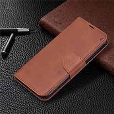Custodia Portafoglio In Pelle Cover con Supporto L04 per Nokia 2.3 Marrone