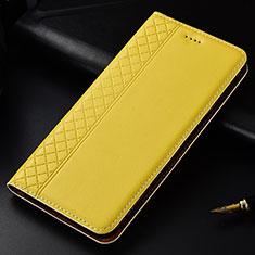 Custodia Portafoglio In Pelle Cover con Supporto L04 per Nokia 4.2 Giallo