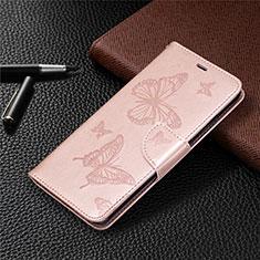Custodia Portafoglio In Pelle Cover con Supporto L04 per Nokia 5.3 Oro Rosa