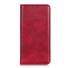 Custodia Portafoglio In Pelle Cover con Supporto L04 per Oppo A15 Rosso