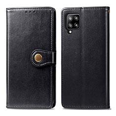 Custodia Portafoglio In Pelle Cover con Supporto L04 per Samsung Galaxy A42 5G Nero
