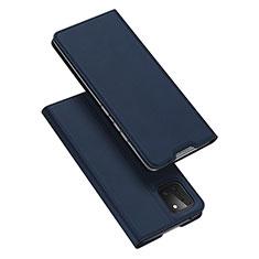 Custodia Portafoglio In Pelle Cover con Supporto L04 per Samsung Galaxy A81 Blu