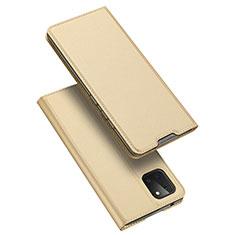 Custodia Portafoglio In Pelle Cover con Supporto L04 per Samsung Galaxy A81 Oro