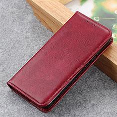 Custodia Portafoglio In Pelle Cover con Supporto L04 per Samsung Galaxy S21 5G Rosso Rosa