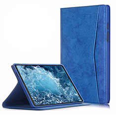 Custodia Portafoglio In Pelle Cover con Supporto L04 per Samsung Galaxy Tab A7 4G 10.4 SM-T505 Blu