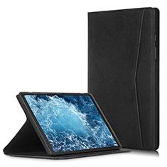 Custodia Portafoglio In Pelle Cover con Supporto L04 per Samsung Galaxy Tab A7 4G 10.4 SM-T505 Nero