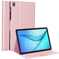 Custodia Portafoglio In Pelle Cover con Supporto L04 per Samsung Galaxy Tab S5e 4G 10.5 SM-T725 Oro Rosa