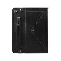 Custodia Portafoglio In Pelle Cover con Supporto L04 per Samsung Galaxy Tab S6 Lite 4G 10.4 SM-P615 Nero