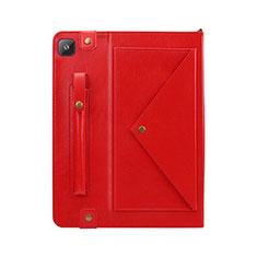 Custodia Portafoglio In Pelle Cover con Supporto L04 per Samsung Galaxy Tab S6 Lite 4G 10.4 SM-P615 Rosso