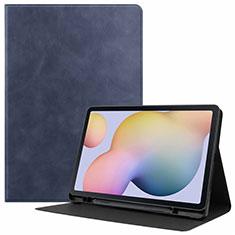 Custodia Portafoglio In Pelle Cover con Supporto L04 per Samsung Galaxy Tab S7 4G 11 SM-T875 Blu
