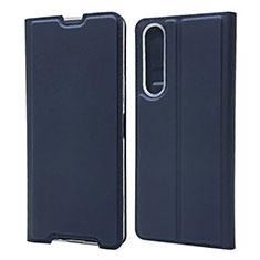 Custodia Portafoglio In Pelle Cover con Supporto L04 per Sony Xperia 1 II Blu