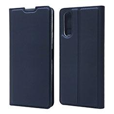 Custodia Portafoglio In Pelle Cover con Supporto L04 per Sony Xperia 10 II Blu