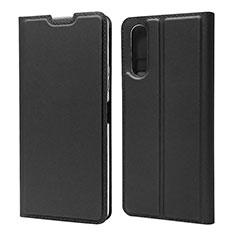Custodia Portafoglio In Pelle Cover con Supporto L04 per Sony Xperia 10 II Nero