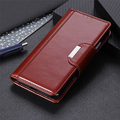 Custodia Portafoglio In Pelle Cover con Supporto L04 per Sony Xperia 8 Lite Marrone